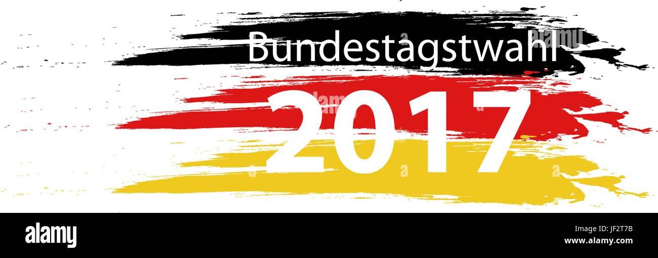 Farben der deutschen Flagge Stockbild