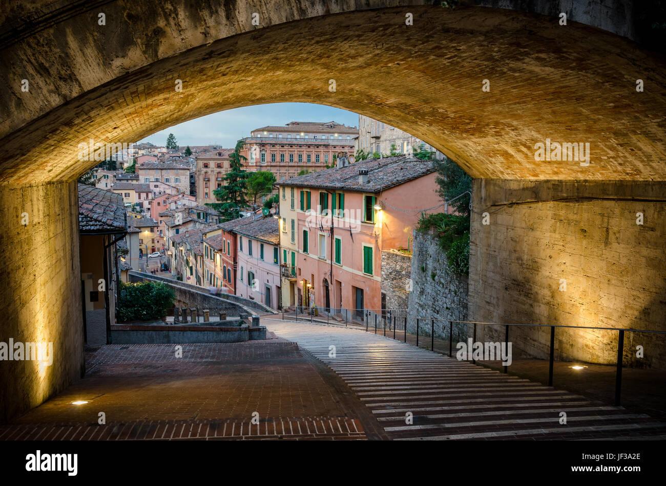Perugia Via Appia Stockfoto