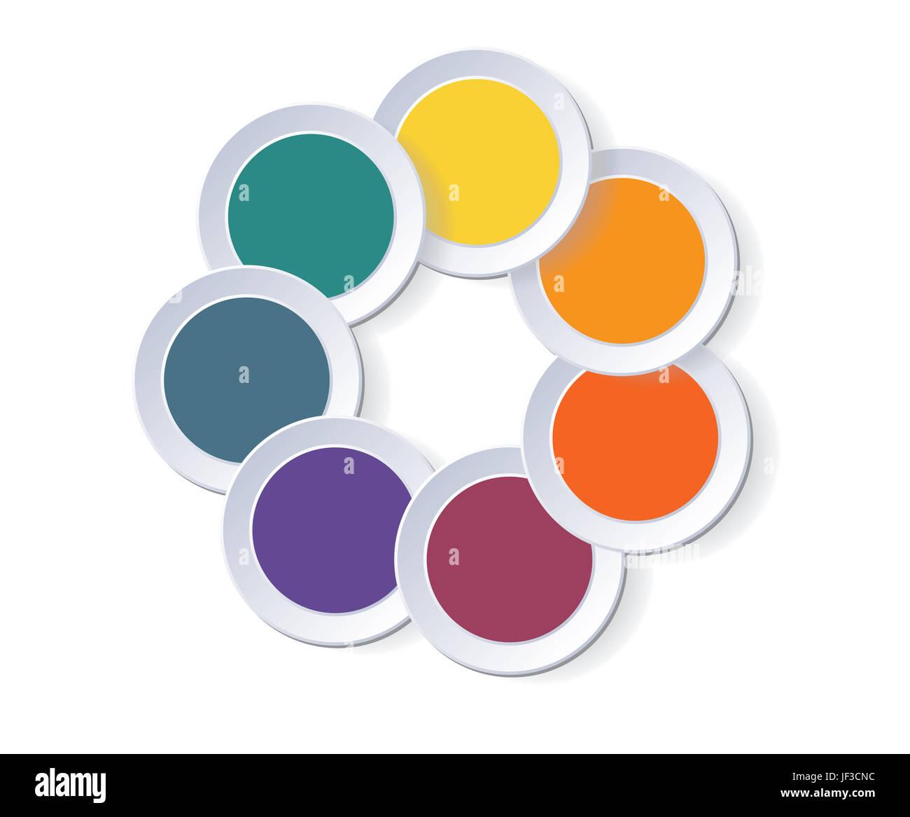 Business Circle Infographics Template Infographic Stockfotos ...
