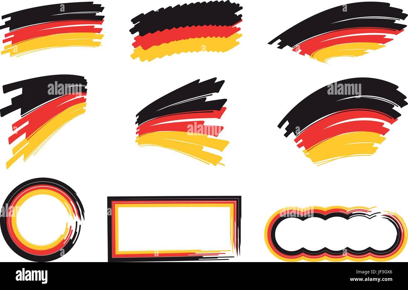 Deutschland, Bundesrepublik Deutschland, Flagge, Pinsel, Banner ...
