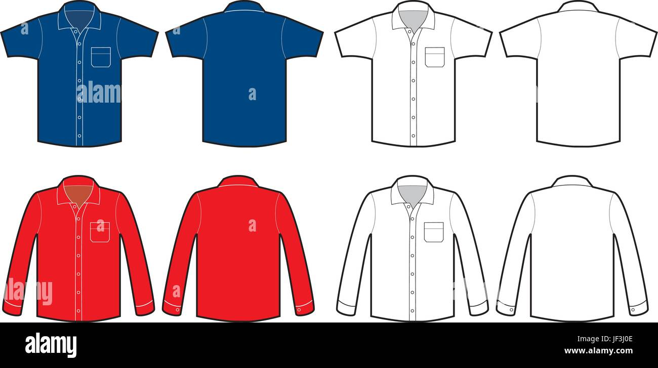 Grüne 2 Kurzärmliges Hemd Für Herren Stock Vektor Art und
