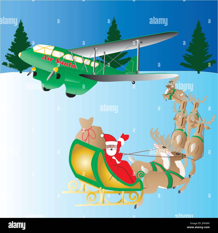 Frohe Weihnachten Flugzeug.Karte Weihnachten Cartoon Vektor Flugzeuge Flugzeug