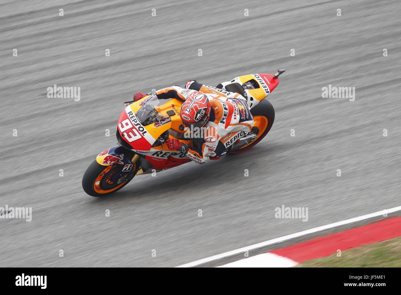 MotoGP-2015 Motorsport Motorrad-Rennfahrer Marc Marquez Stockbild
