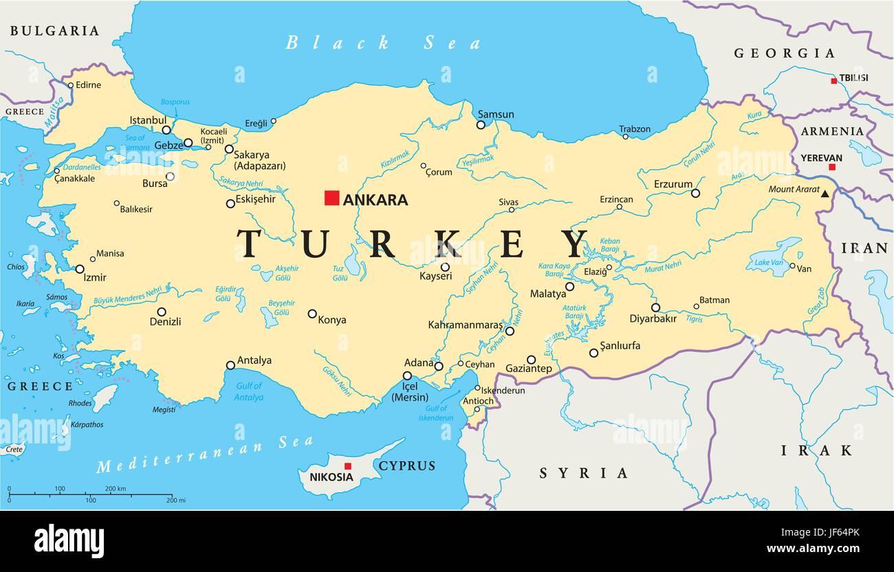 Turkei Istanbul Karte Atlas Weltkarte Politisch Turkei