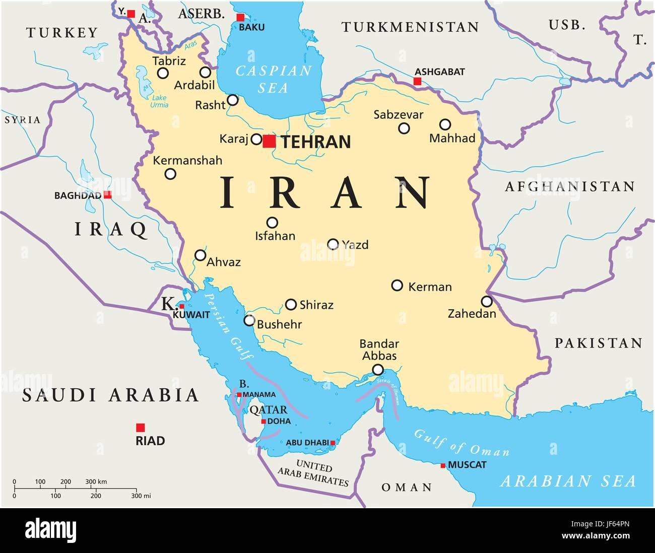 persien karte Iran, Persien, Karte, Atlas, Weltkarte, politisch, arabischen
