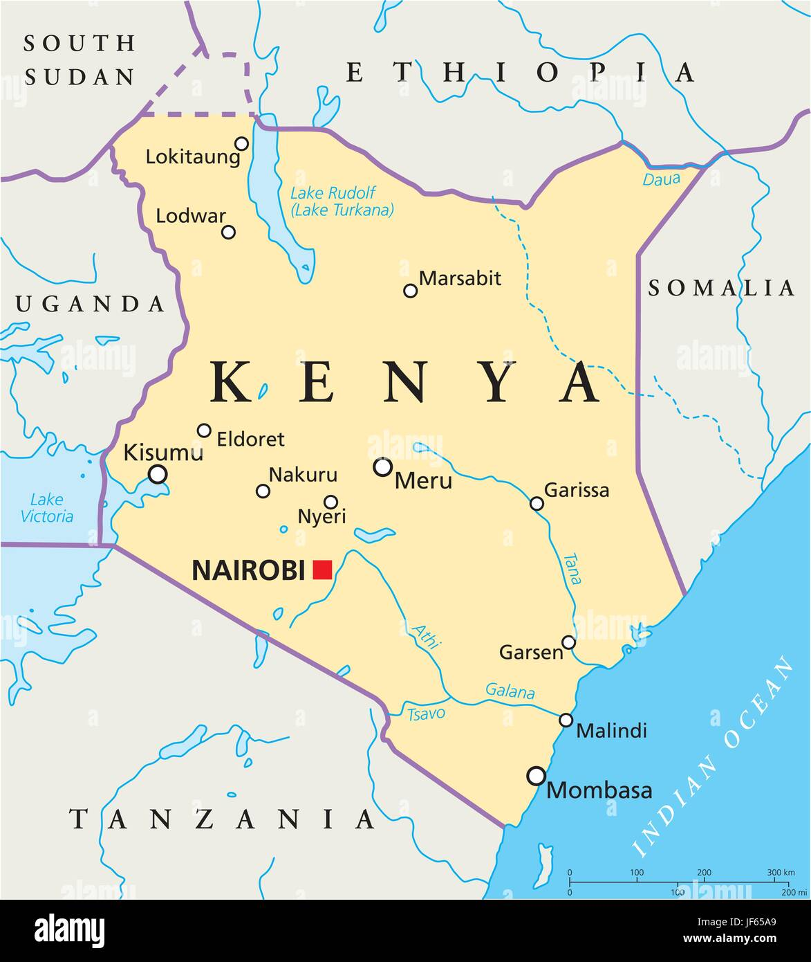 Kenya Map Stockfotos & Kenya Map Bilder - Alamy
