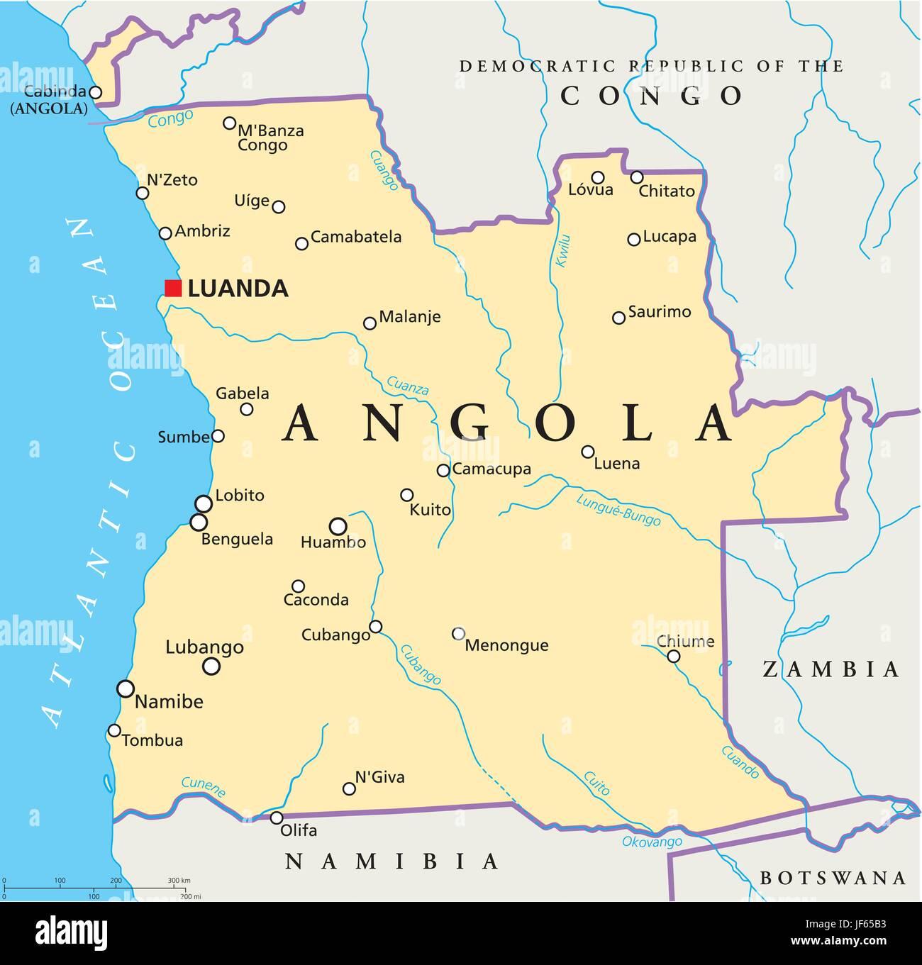 Angola Africa Map Stockfotos & Angola Africa Map Bilder - Alamy