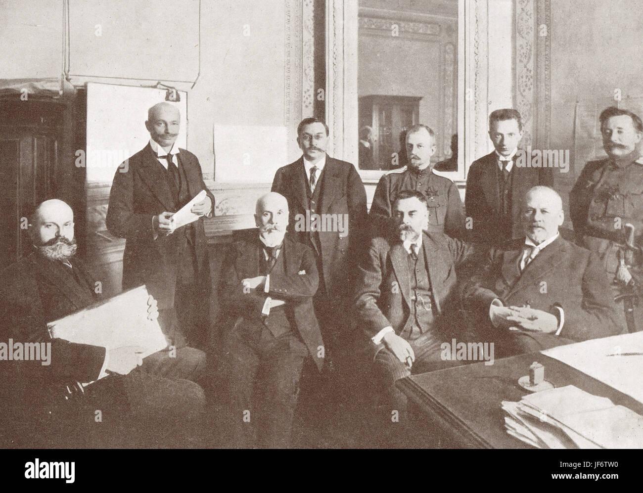 Staats-und Regierungschefs russische Februarrevolution 1917 Stockbild