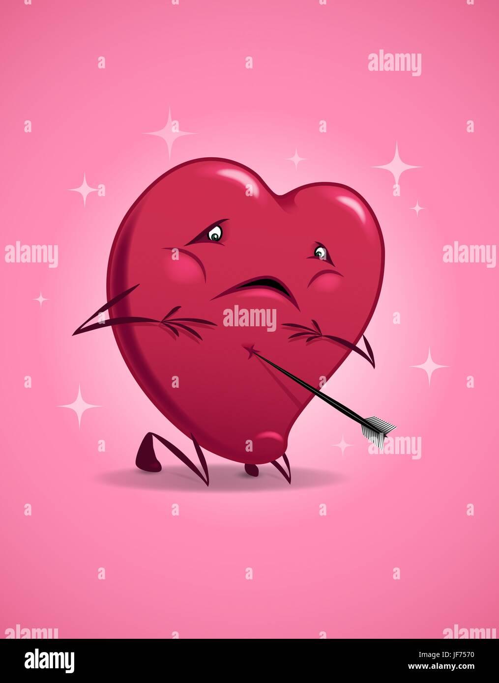 Valentinstag Lustig Cartoon Liebe Verliebt Verliebt Verletzt