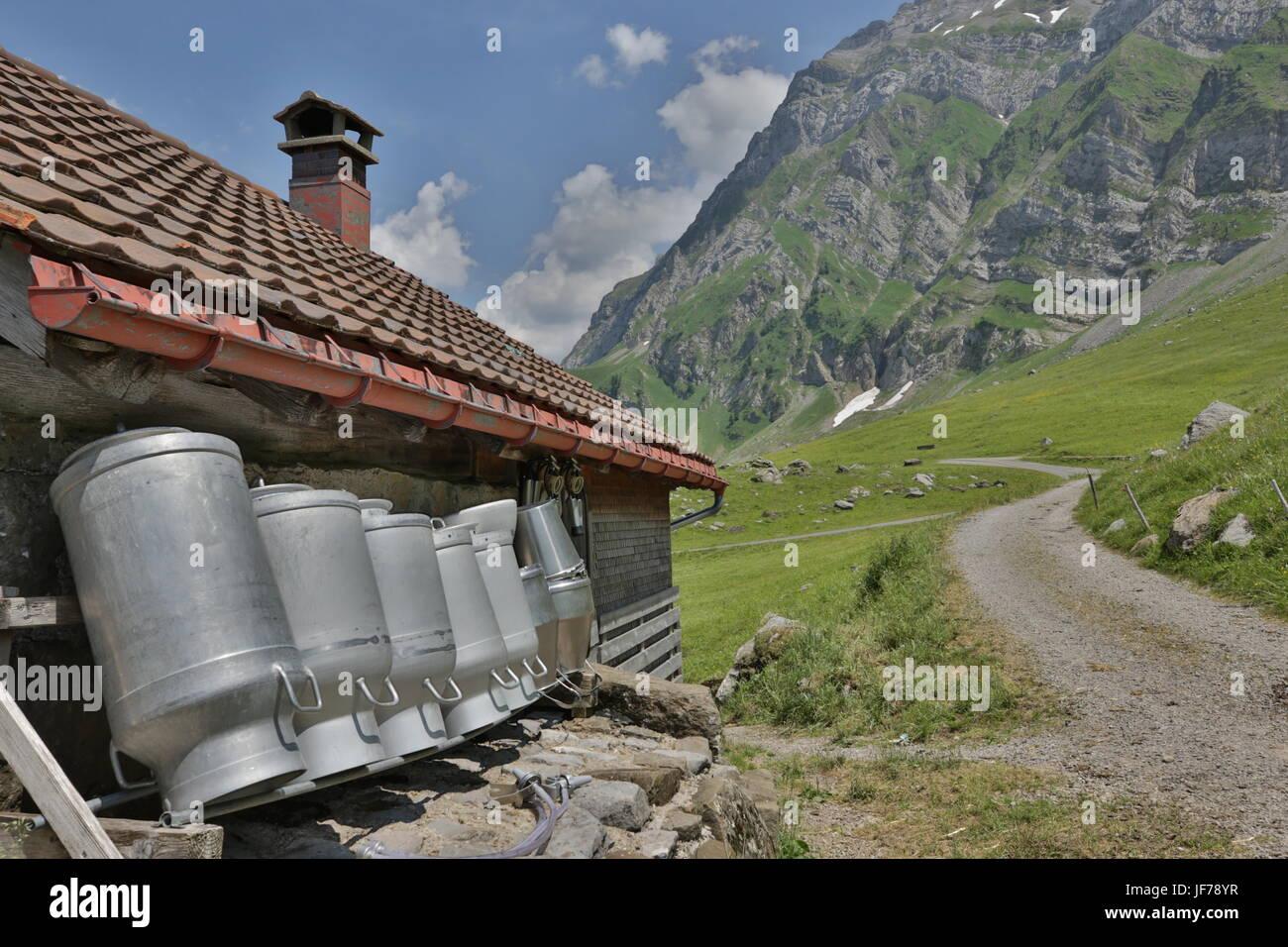Santis, Schweiz, Wanderweg Stockbild