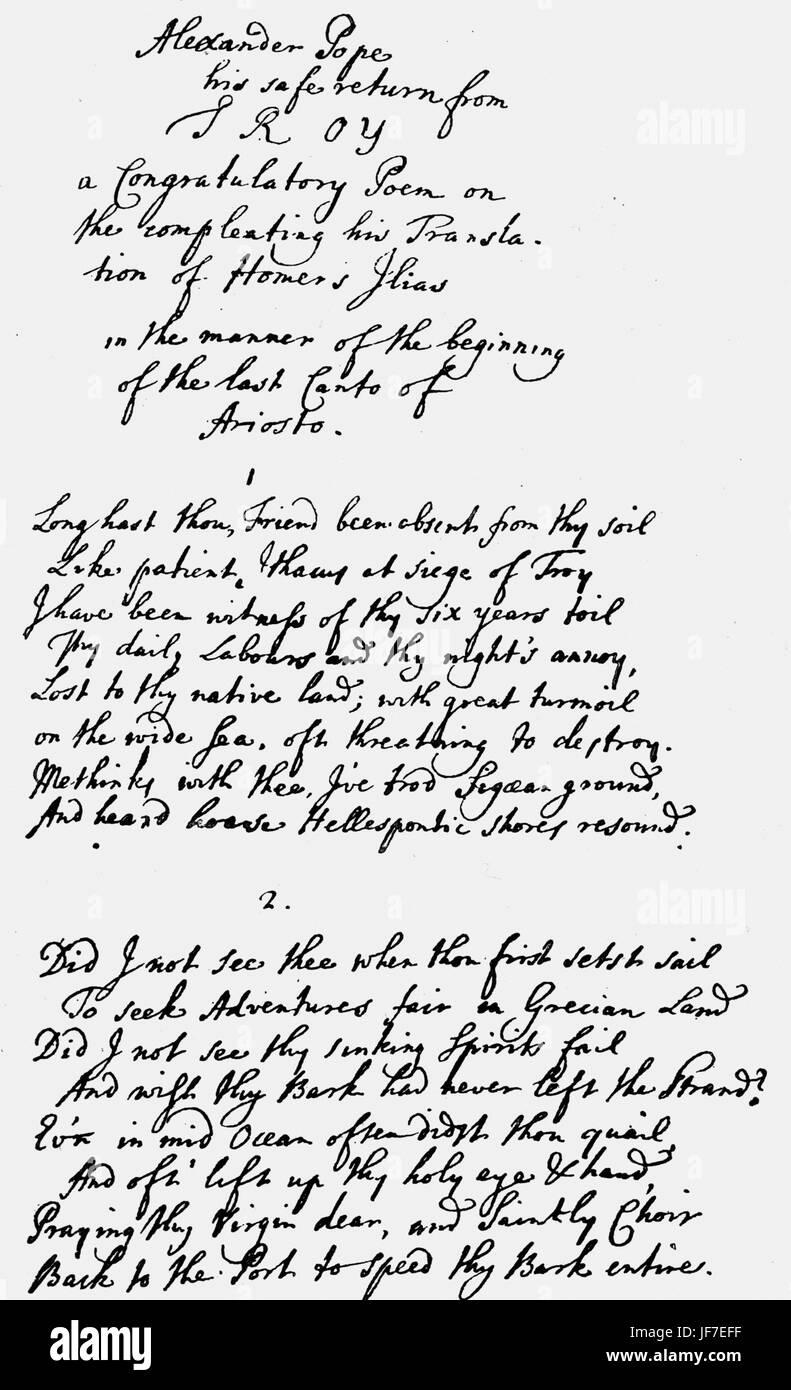 Glückwunsch Gedicht Von John Gay Alexander Pope Auf Die