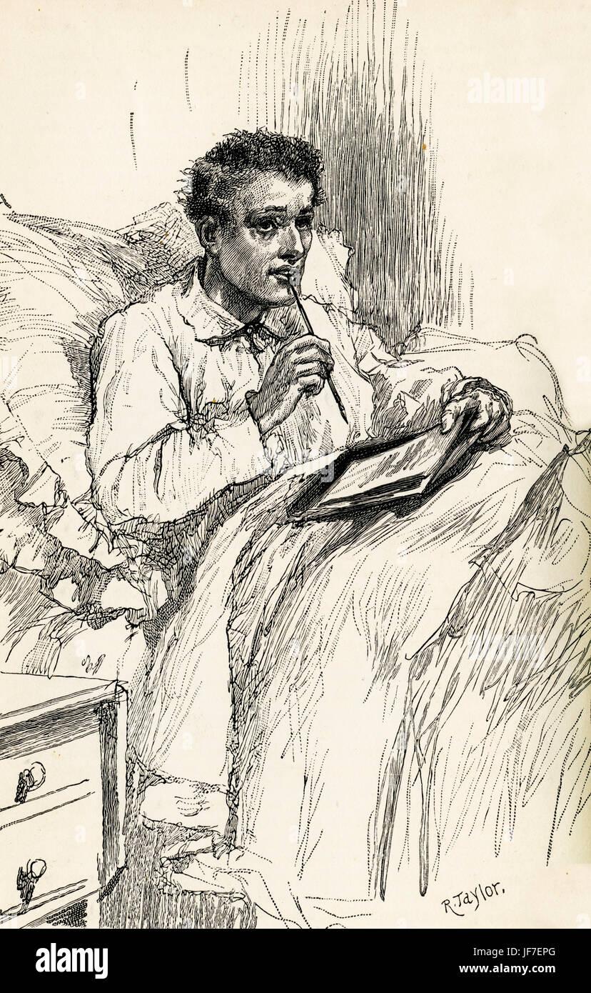 Blind Love von Wilkie Collins.  Schriftliche 1889 - unvollendet. Von Walter Besant abgeschlossen. Bildunterschrift Stockbild