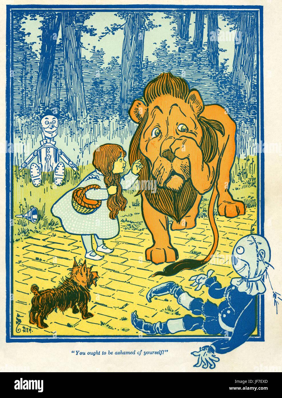 Der Zauberer von Oz von L. Frank Baum Buch. Illustration von w. Denslow. Bildunterschrift: Sie sollten sich schämen! Stockbild