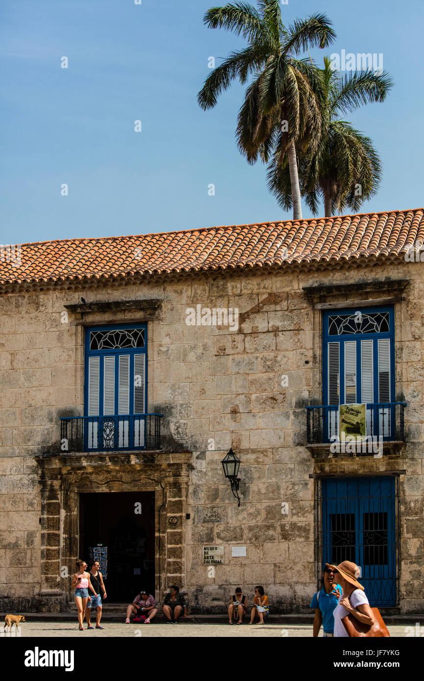 PLAZA DE ARMAS - HAVANNA KUBA Stockbild