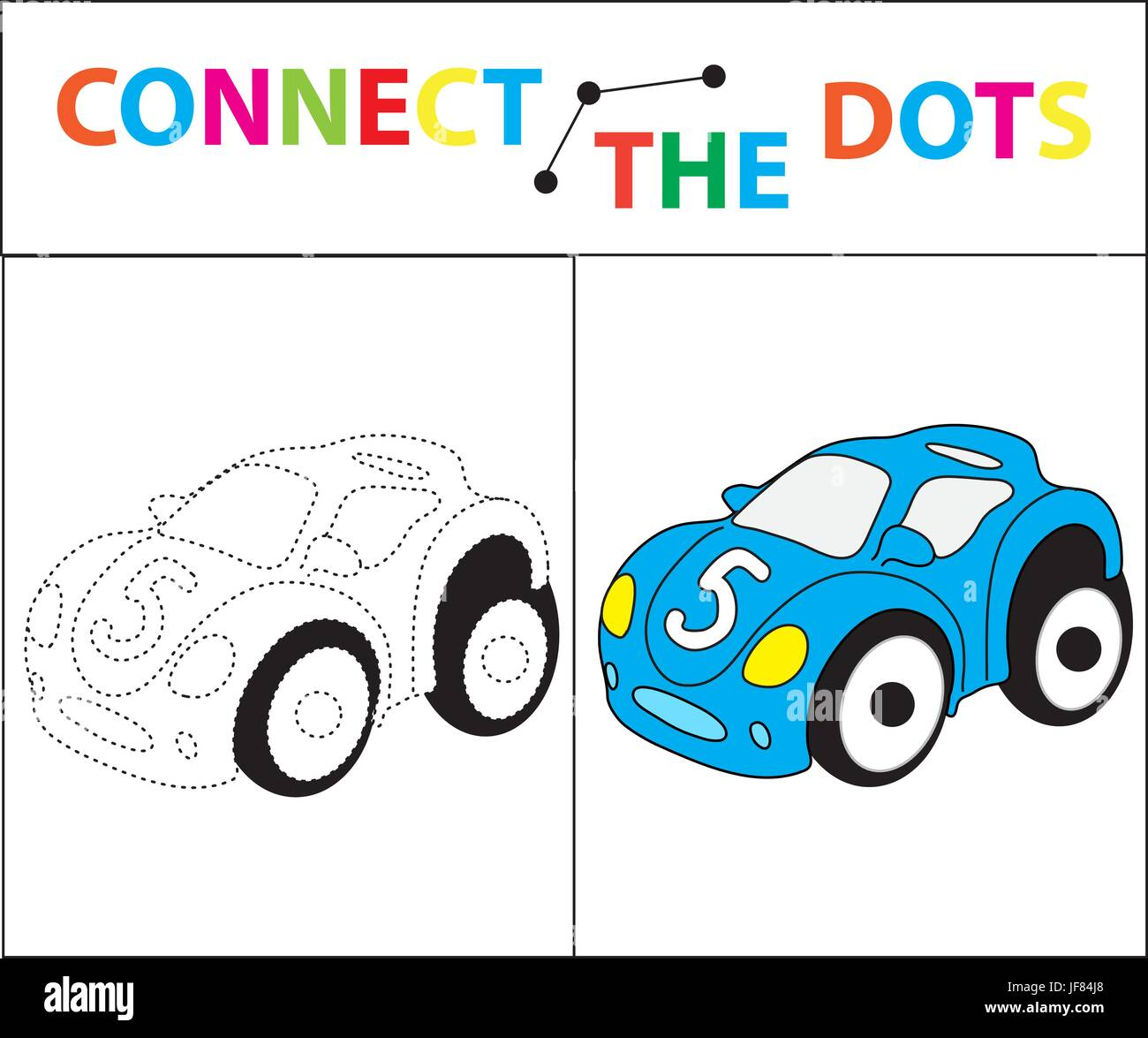 Kinder Lernspiel für motorische Fähigkeiten. Schließen Sie das ...