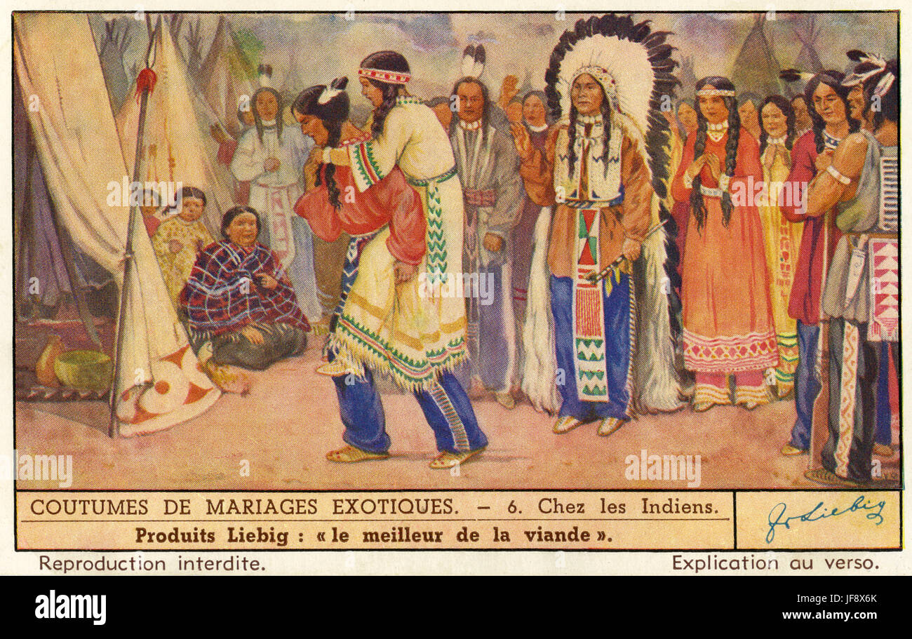 Amerikanische Ureinwohner Indische Hochzeitszeremonie Nach Der