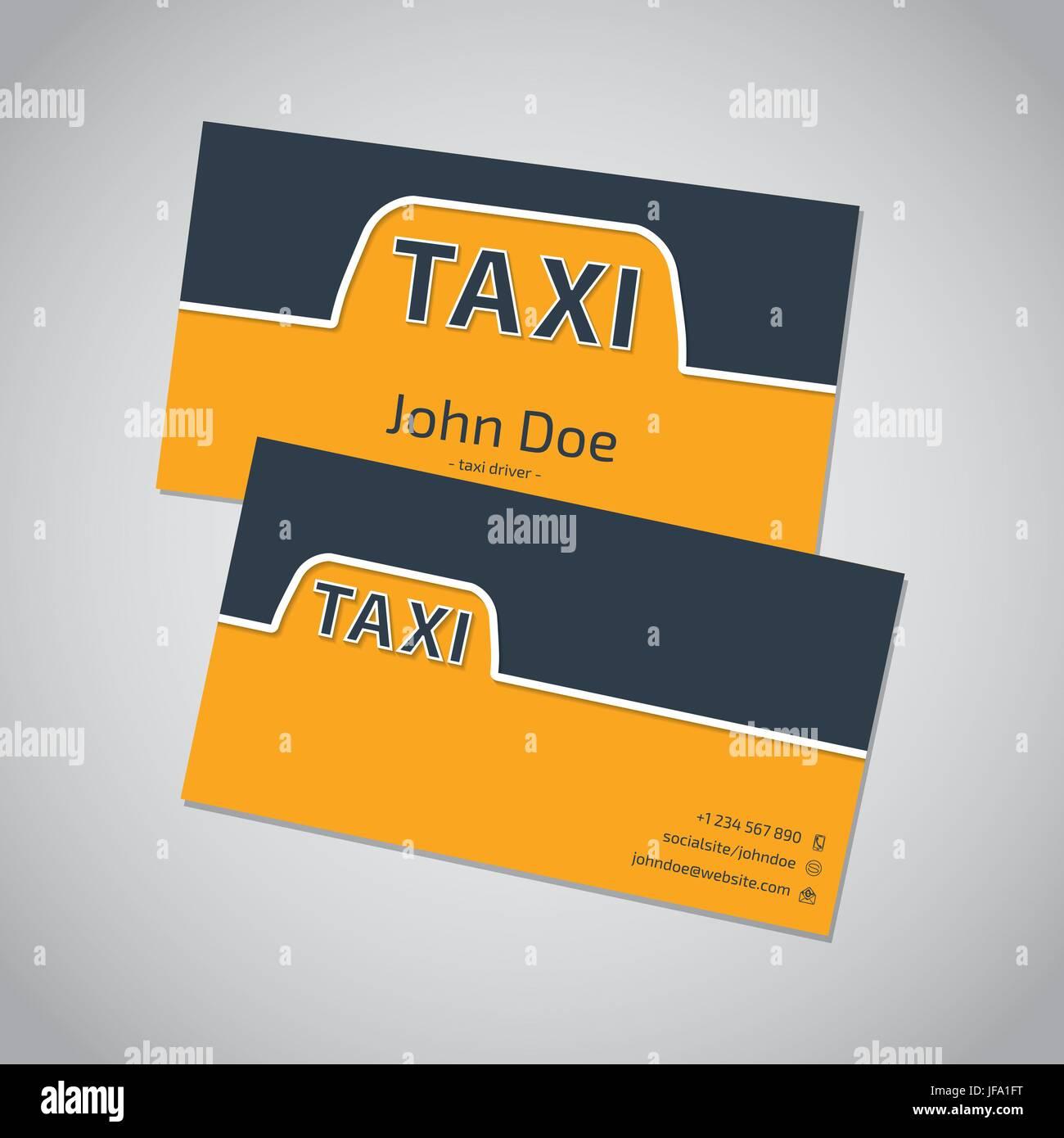 Taxi Visitenkarten Vorlage Design Vektor Abbildung Bild