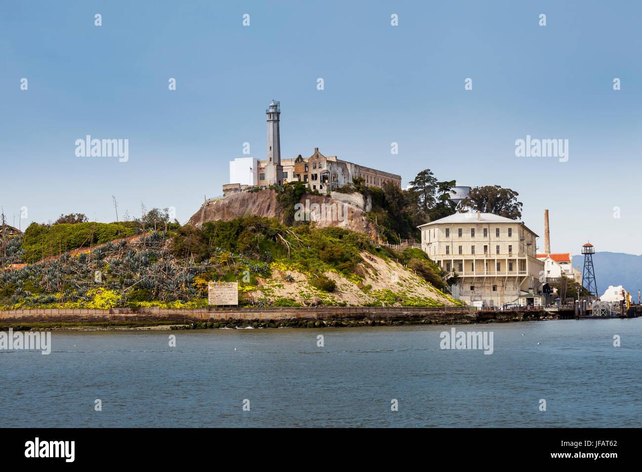 Gefängnis Alcatraz, San Francisco, Kalifornien, USA Stockbild