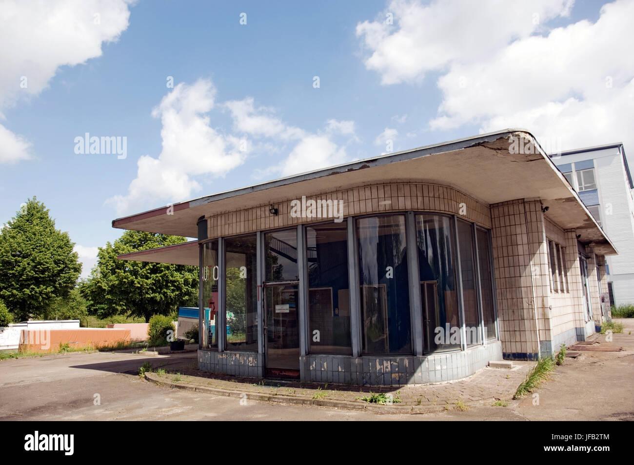 Alte Tankstelle Brandshof Stockbild