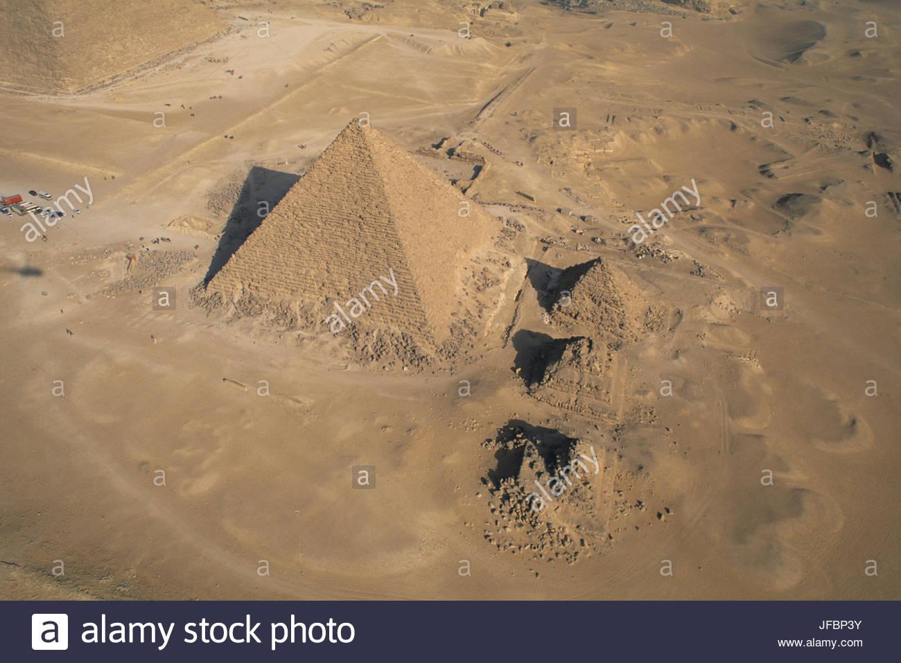 Pyramide des Menkaure. Stockbild