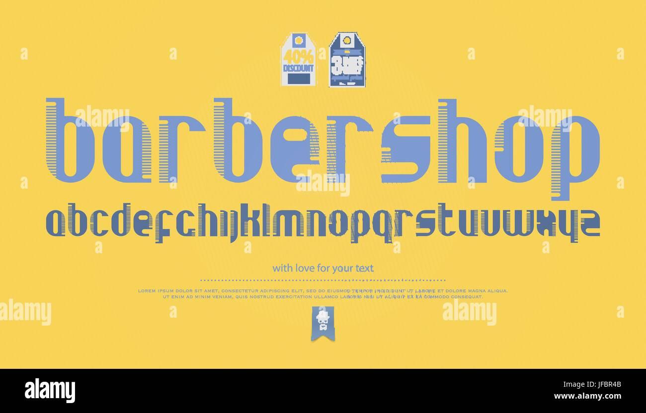 regelmäßige, Kämmen Sie Stil Alphabet Buchstaben auf gelbem ...