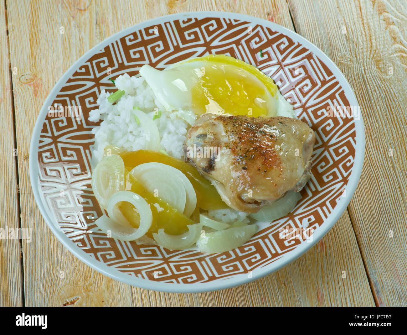 Hainanese Reis Curry Stockfoto