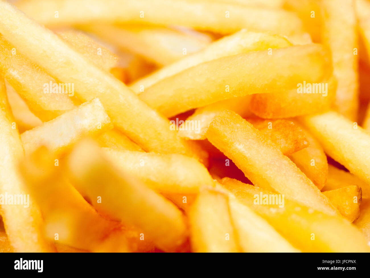 Extreme Nahaufnahme von Pommes Frittes /French Fries Stockbild