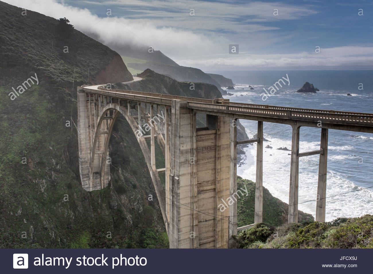 Bixby Creek Bridge nach dem Sturm Stockbild