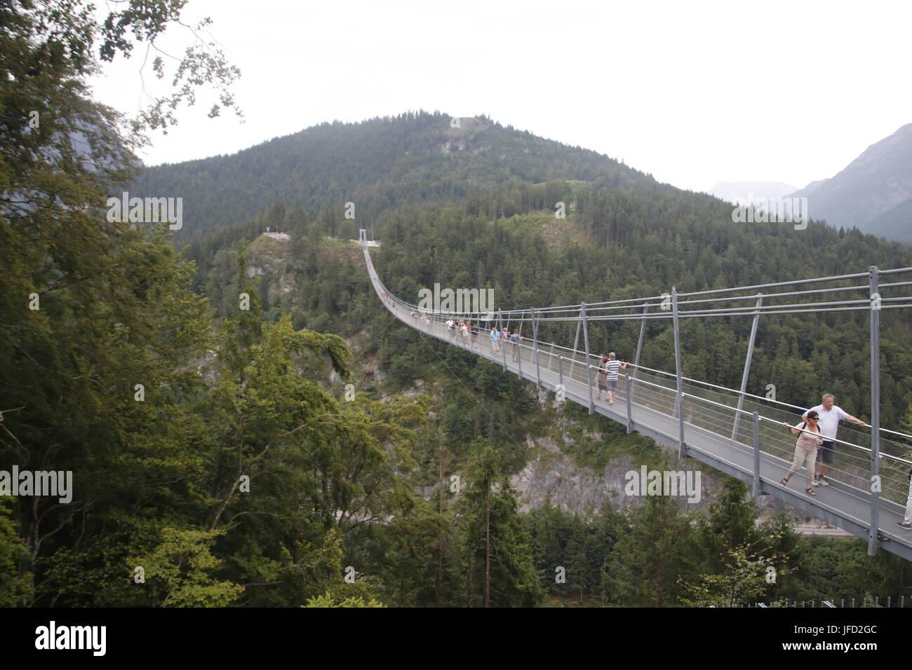 Suspension Bridge Highline 20 Reutte, Tirol, Österreich ...