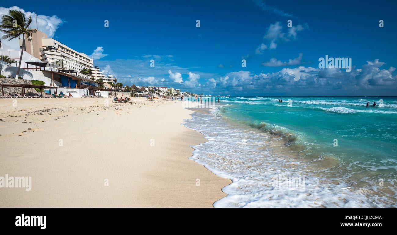 Cancun Strand Panorama, Mexiko Stockbild