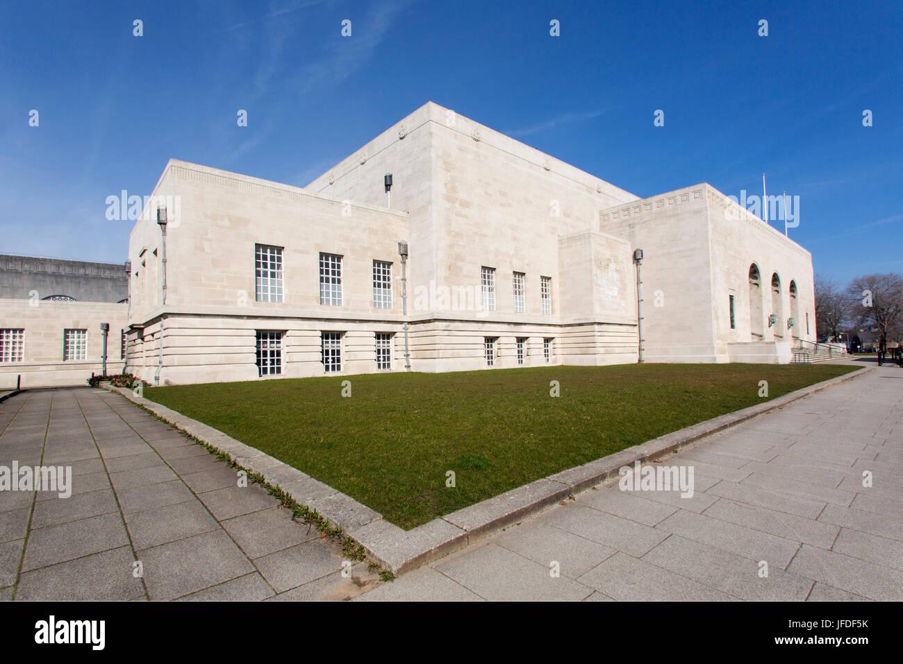 Brangwyn Hall - Swansea Stockbild