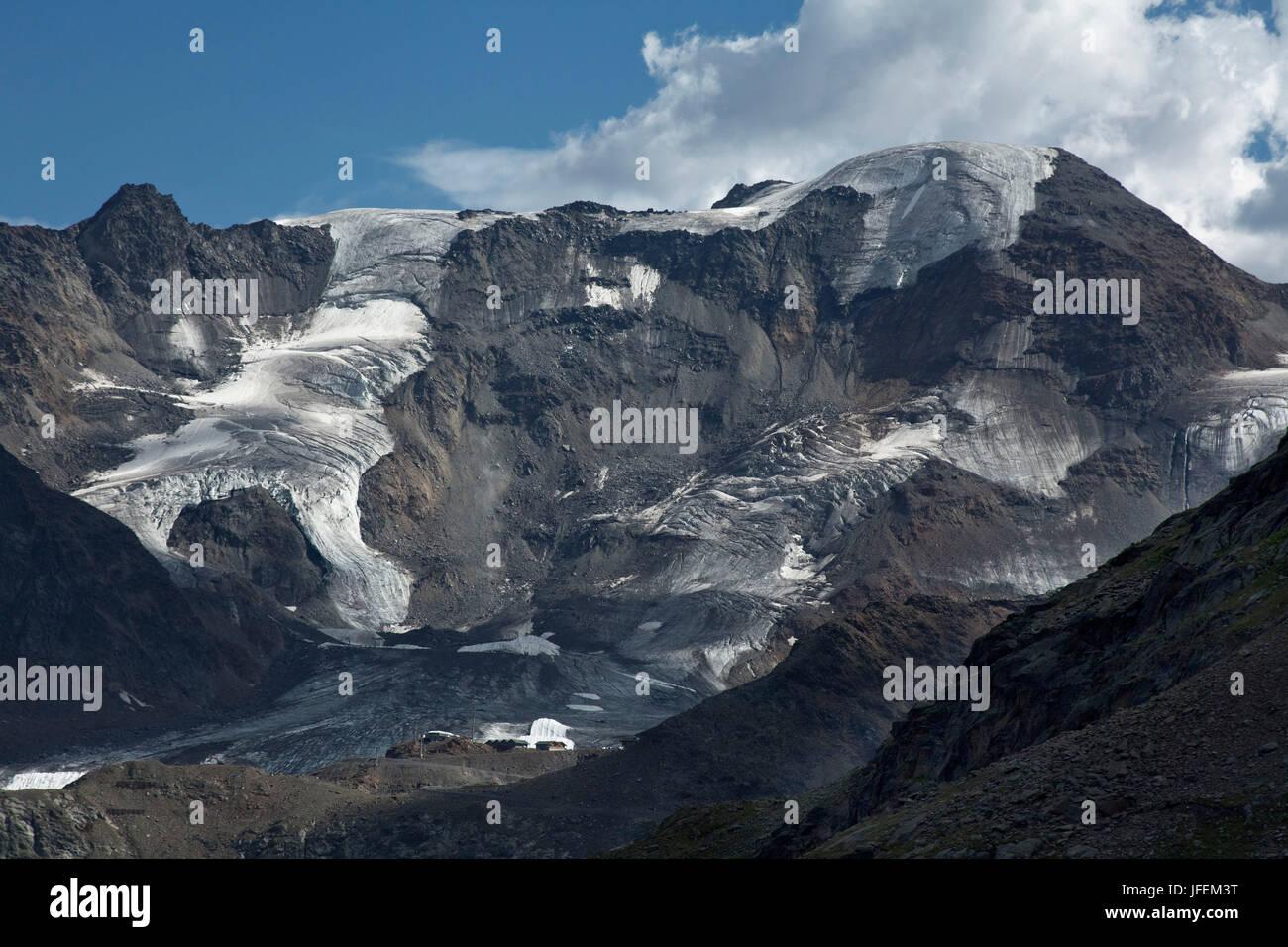 sterreich tirol kaunertaler gletscher skigebiet mit wei en see point stockfoto bild. Black Bedroom Furniture Sets. Home Design Ideas