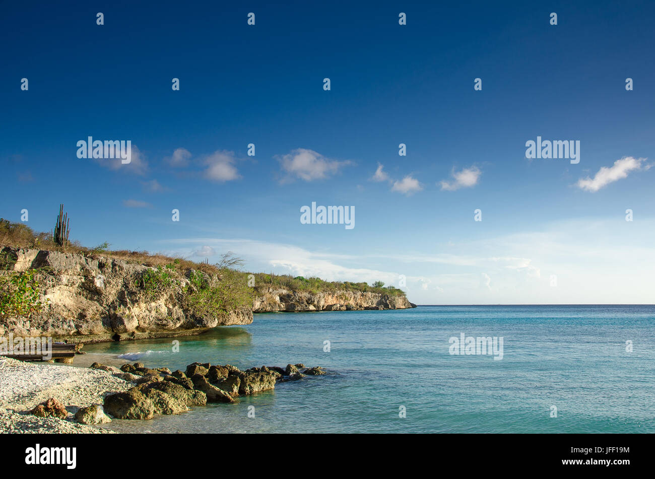 Strand auf einer karibischen Insel Stockbild