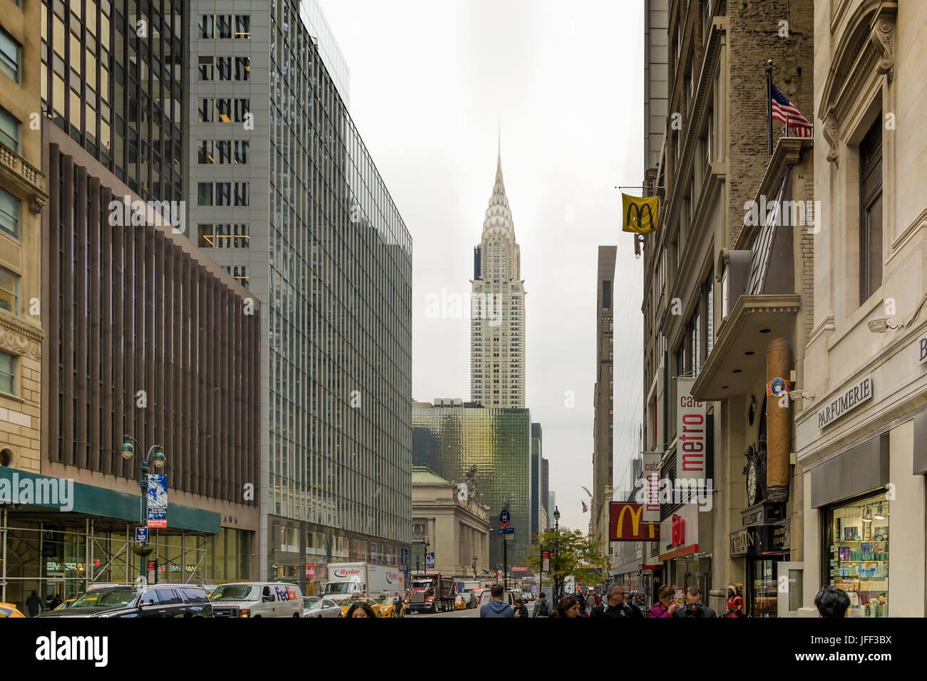 Städtische Szene in 42 Street in New York Stockbild