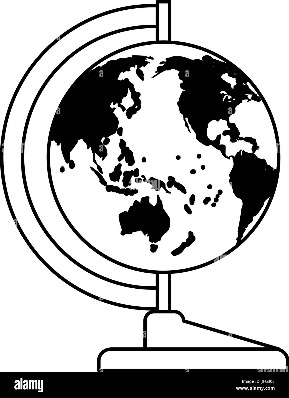 Weltkarte Lehren Zubehör Stockbild