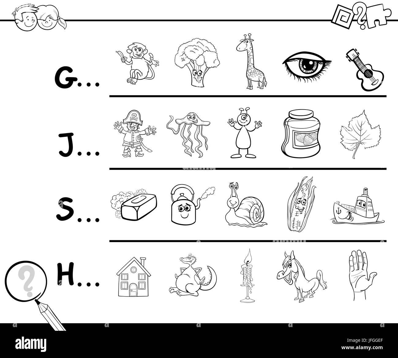 Cartoon Letter H Stockfotos & Cartoon Letter H Bilder - Alamy