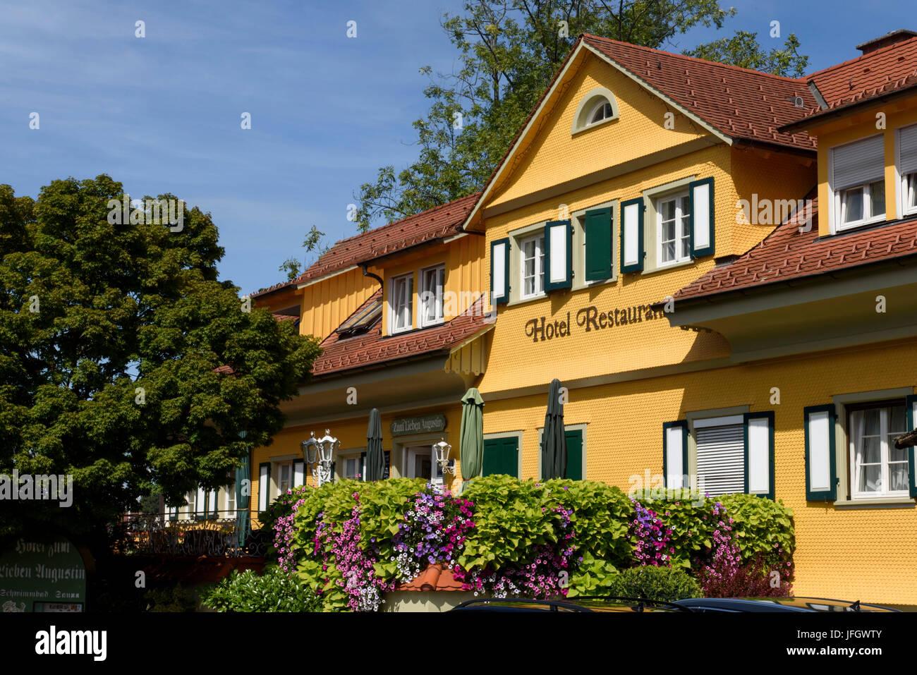 Hotel zum lieben Augustin, Wasserburg, Bodensee, Bayern, Deutschland Stockbild