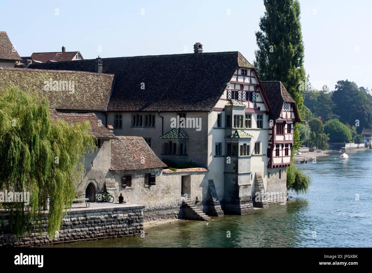 Stein am Rhein, Bodensee, Thurgau, Schweiz Stockbild