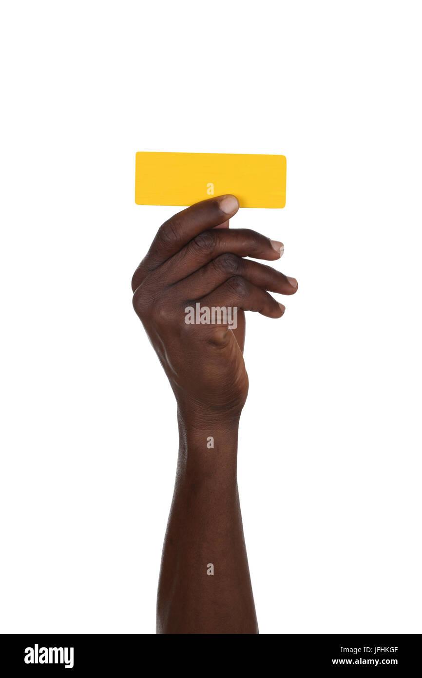 Hand halten Satzzeichen Strich Bindestrich Stockbild