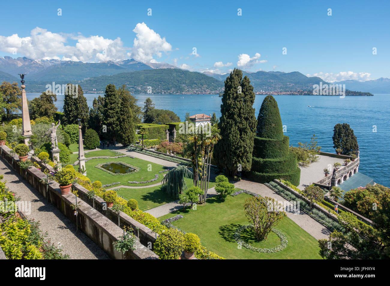 Isola Bella, Eine der Borromäischen Inseln Im Lago Maggiore, Italien Stockbild