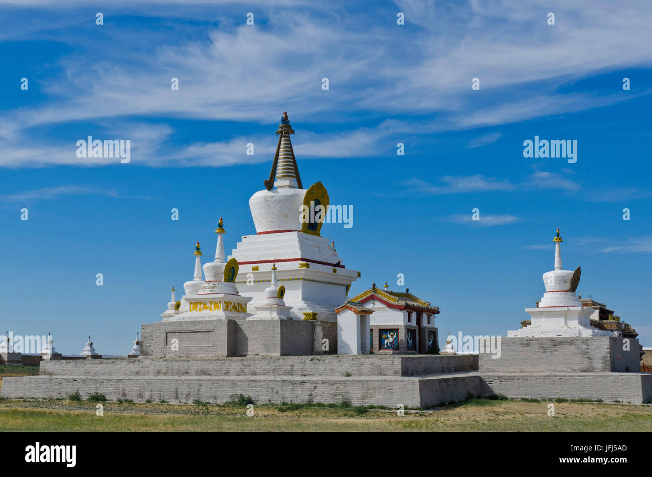 Mongolei, Zentralasien, Karakorum / Kloster Qara Qorum von Erdene Zuu, Hauptstadt des Dschingis Khan Stockbild