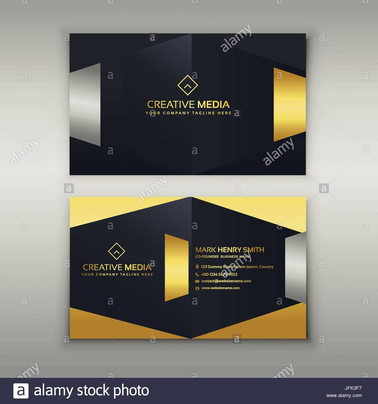 Premium Luxus Visitenkarten Design Vorlage Vektor Abbildung