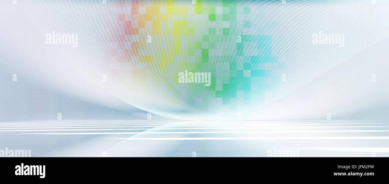 Abstrakt Linien Bewegung Hintergrund Banner Landschaft Perspektive futuristisch Stockbild