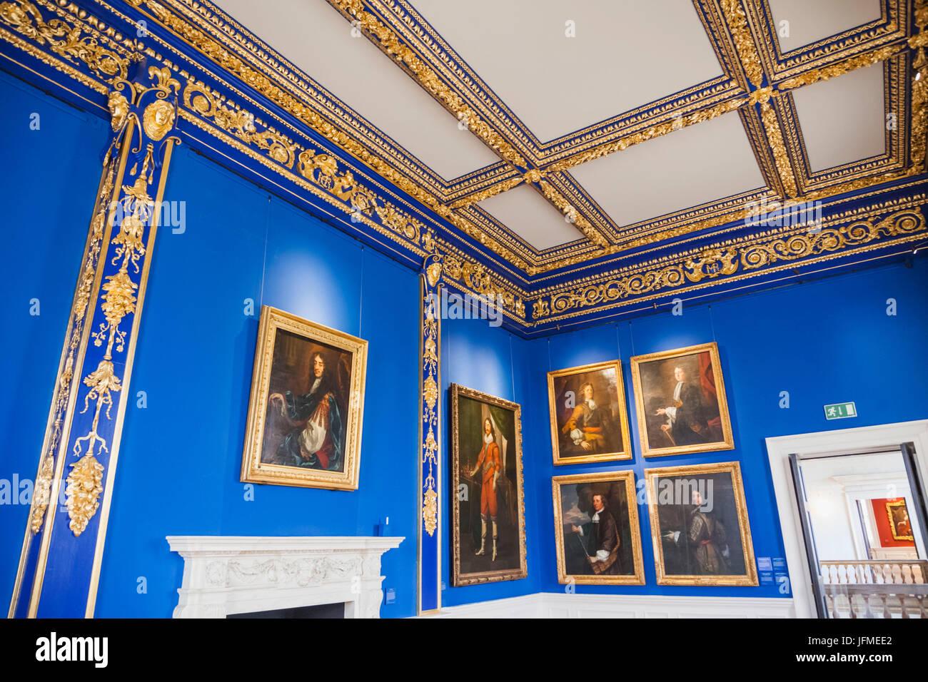 England, London, Greenwich, Haus der Königin, die Präsenz der Königskammer Stockbild