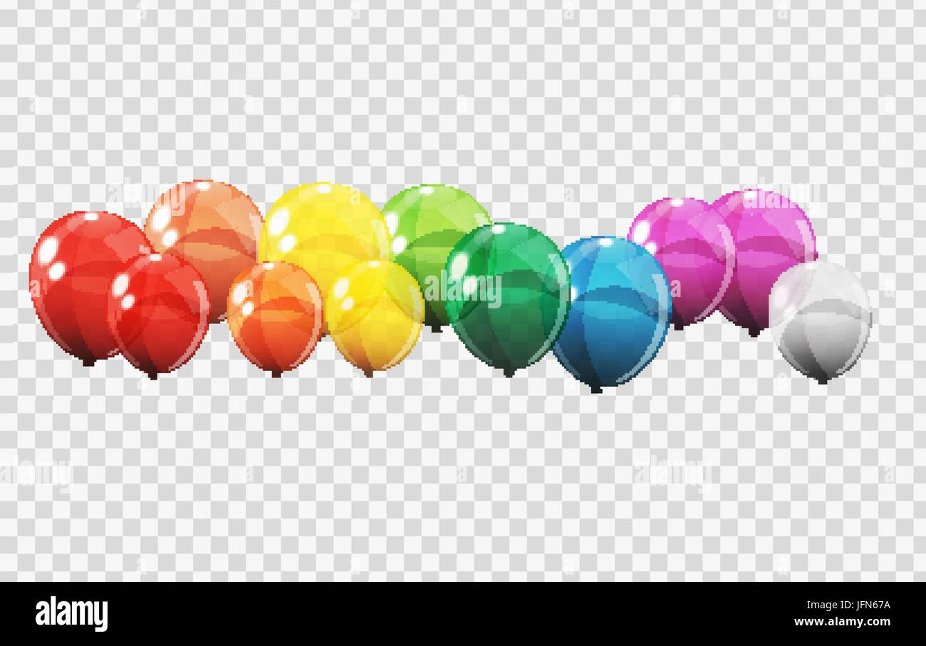 Luftballons transparenter hintergrund