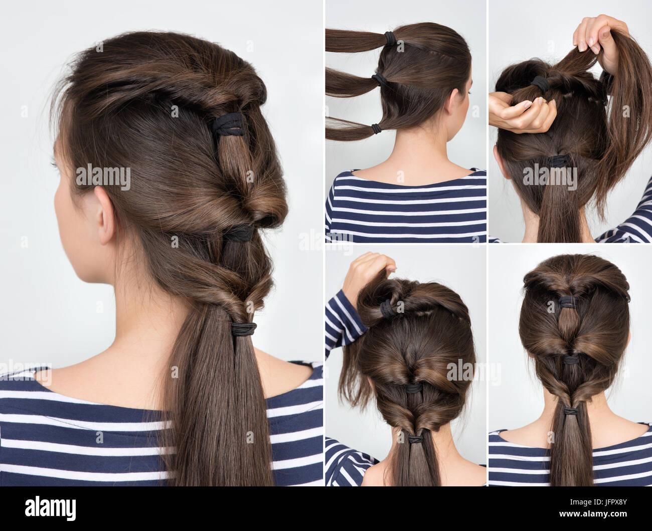 Einfache Frisur Mit Haargummi Haar Tutorial Schritt Fur Schritt