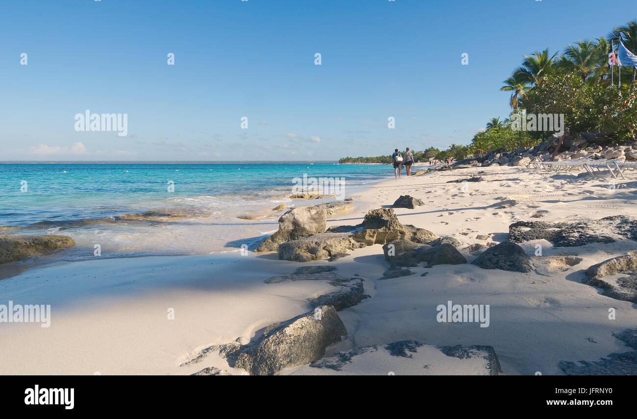 Catalina Island - Playa De La Isla Catalina - tropischen Karibik Stockbild