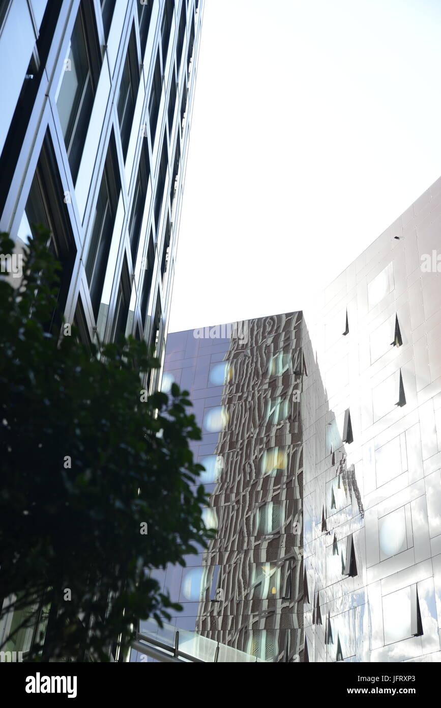 Tanzende Türme und Arcotel Hamburg Stockbild