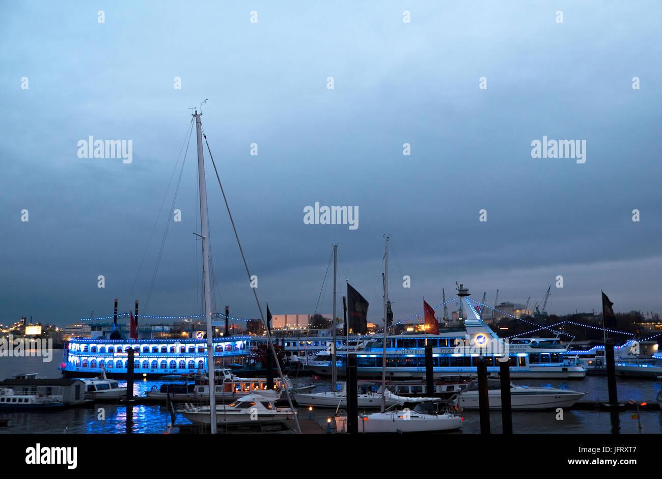 Mississippi fügt, Hamburger Hafen Stockbild