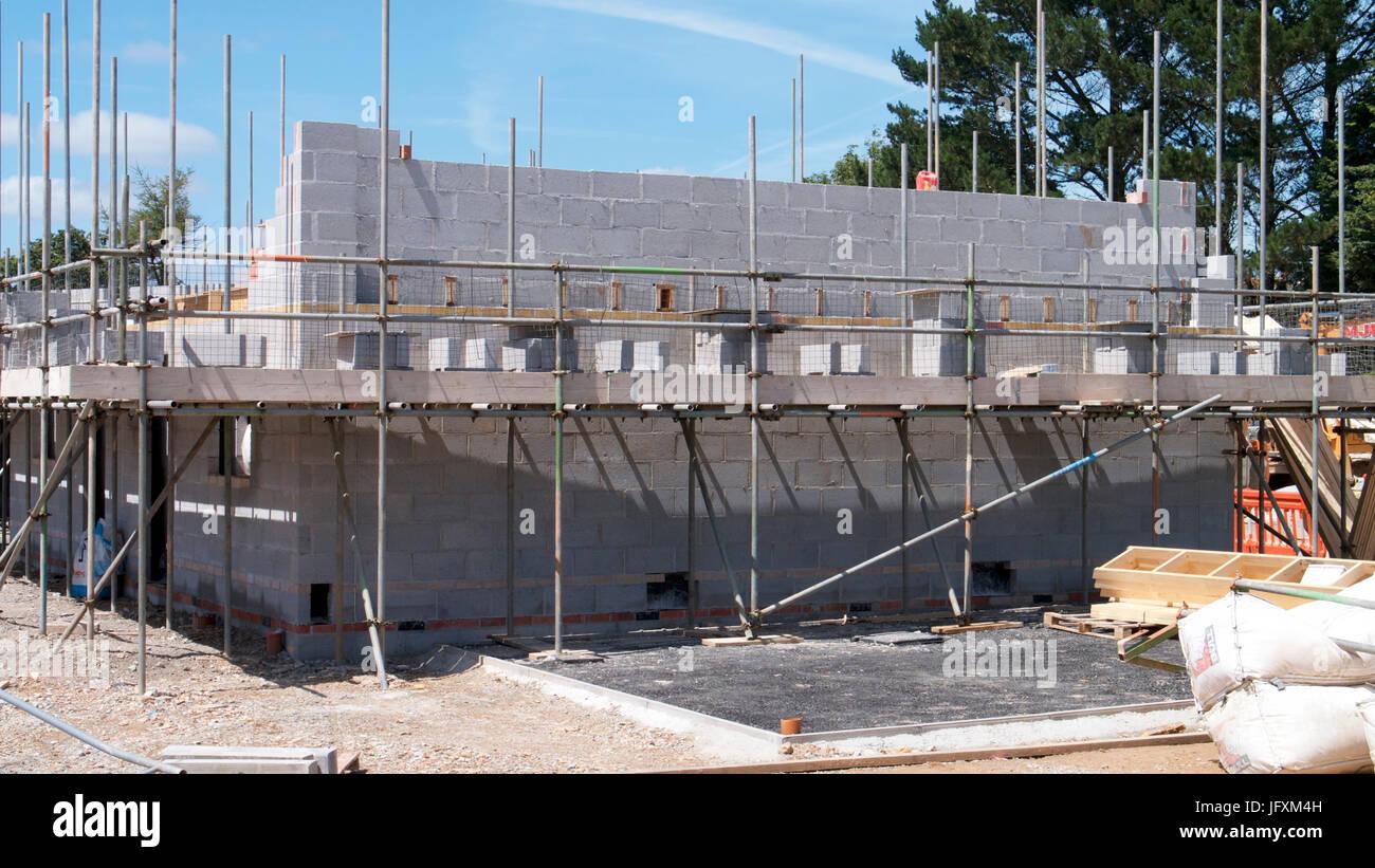 Baustelle an einem Sommertag Sonntag Stockbild